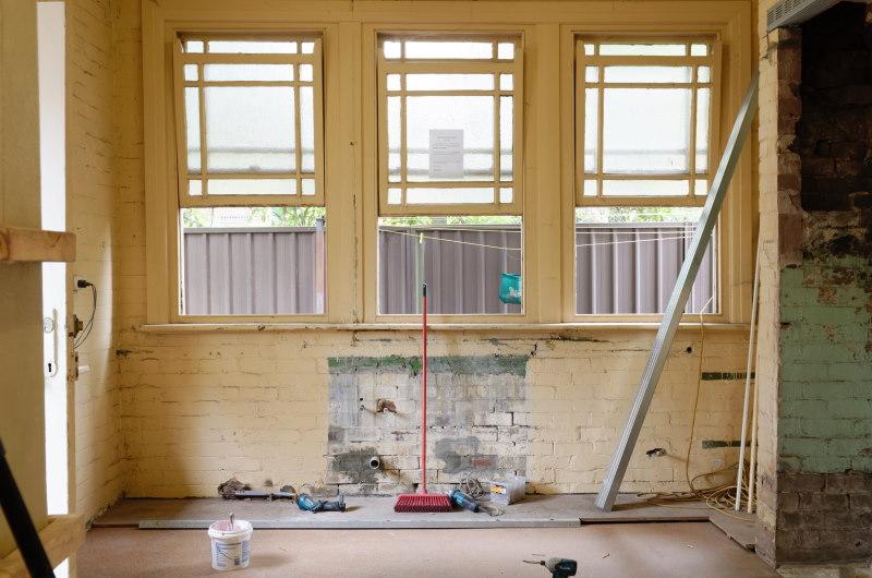σπίτι υπό ανακαίνιση.